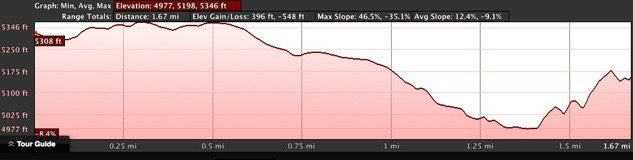 Hall Mine Elevation Profile